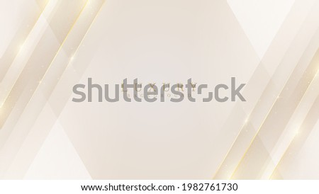 Luxury modern abstract scene. golden lines sparkle with free space for paste promotional text. cream color shade background about sweet and elegant feeling. vector illustration for design.