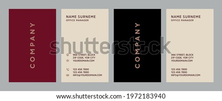 Luxury, Modern and Elegant Business Card Design template