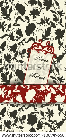 Luxury modern floral wedding or invitation card