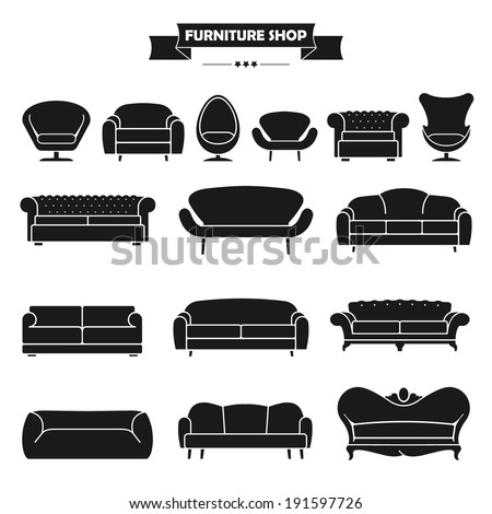 luxury modern sofa and couch