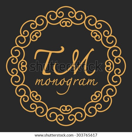 luxury monogram logo identity