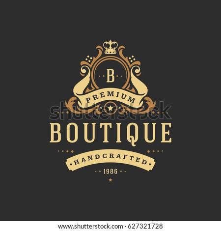 luxury monogram logo template