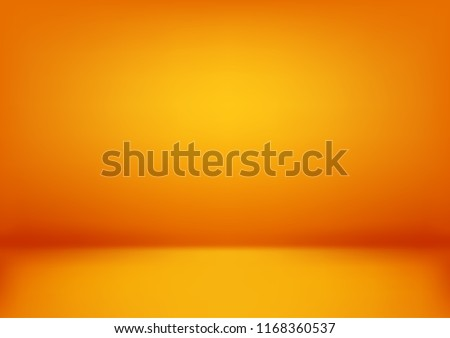 Luxury orange abstract background. Halloween layout design,studio,room. Business report with smooth circle gradient color. Vector illustration