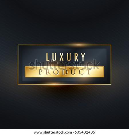luxury product premium label design in rectangle shape