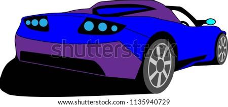 luxury purple blue vehicle