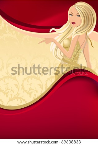 luxury red background with