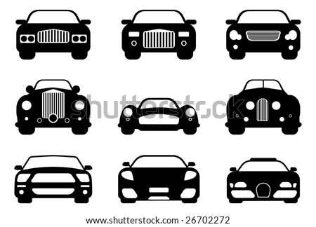 Recreation Collecting Sports Auto Racing on Luxury  Retro  And Sport Car Collection  Easy Editable Stock Vector