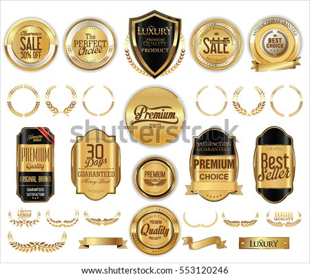 Luxury retro badge and labels collection