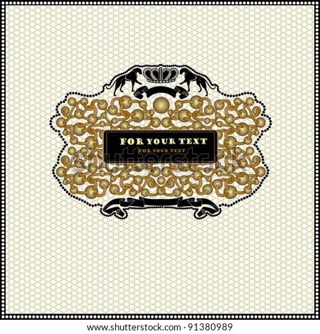 luxury royal banner advertising