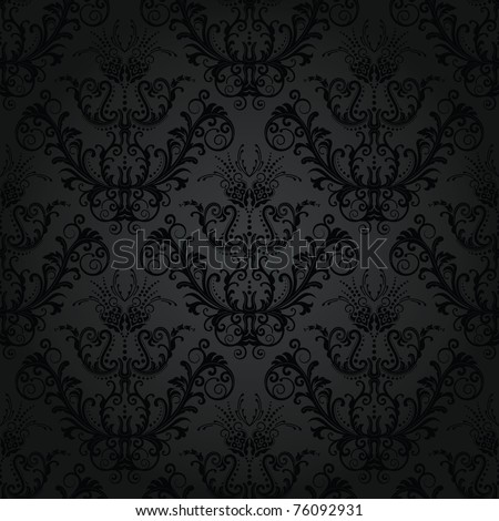 Luxury seamless charcoal gothic pattern