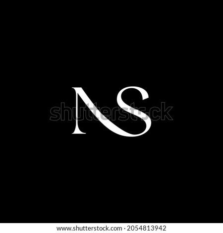 Luxury, simple, stylish, trendy and elegant NS SN N S logo design. Vector illustration template.Monogram design Stock fotó ©