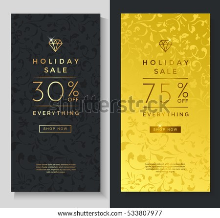 Luxury Style Holiday Sale Banner Template