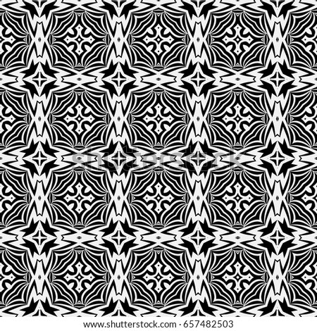 luxury vintage background. seamless vector pattern. black, white color. for wallpaper, design, textile