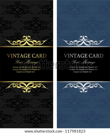 Luxury vintage cards - stock vector