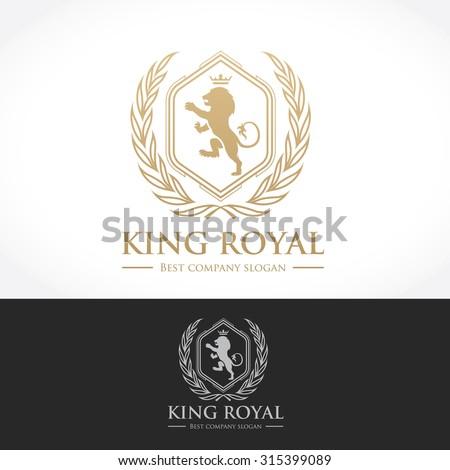 luxury vintage  crests logo