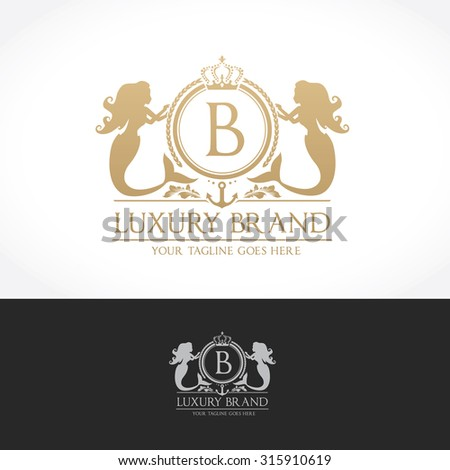 luxury vintage  crests logo