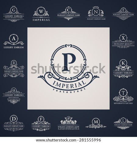luxury vintage logo set
