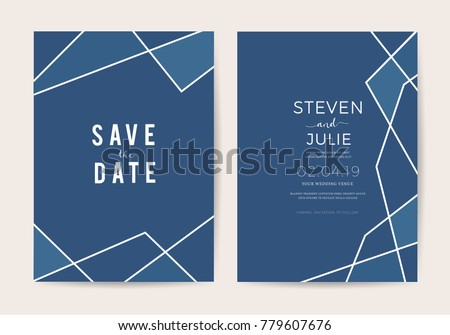 Modern geometric invitation download free vector art stock luxury wedding invitation cards with geometric pattern vector design template stopboris Choice Image