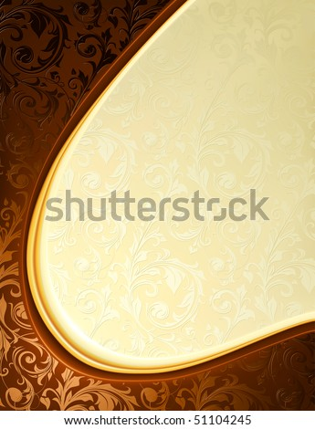 Luxury yellow and brown Background, vector