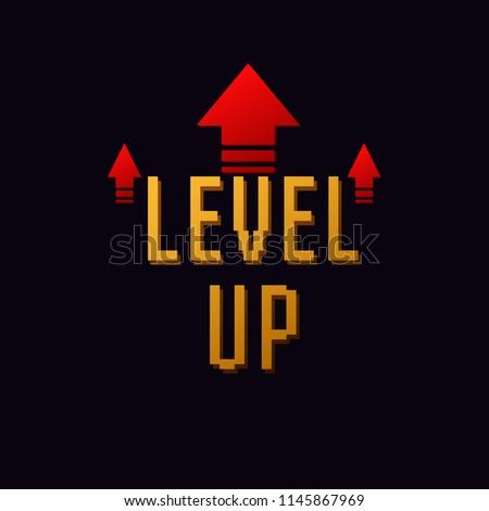 lvl up icon  new level logo vector