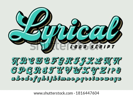 Lyrical logo style script: a bold logotype alphabet for branding businesses, corporations or sports teams. Stock photo ©