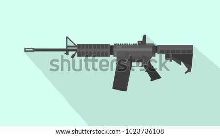 m4 carbine rifle gun with flat