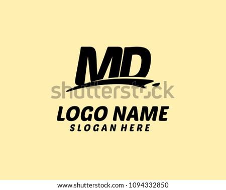 m d initial logo