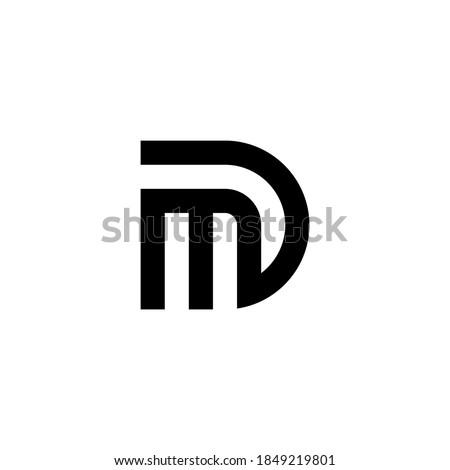 m d md dm initial logo design vector graphic idea creative Stok fotoğraf ©
