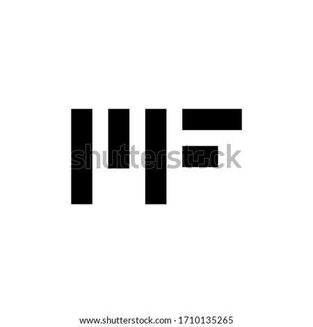 m f mf initial logo design vector symbol graphic idea creative Stock fotó ©