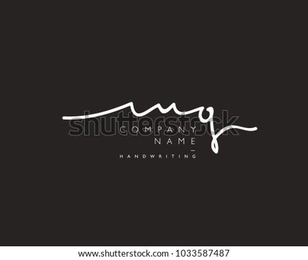 m g initial handwriting logo