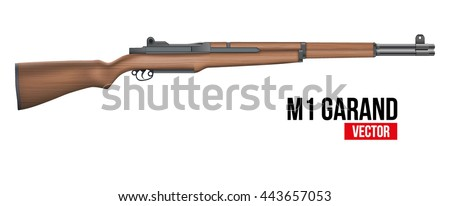 m1 garand semi automatic rifle