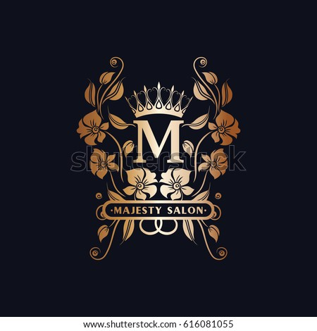 vector images illustrations and cliparts m initials logo floral