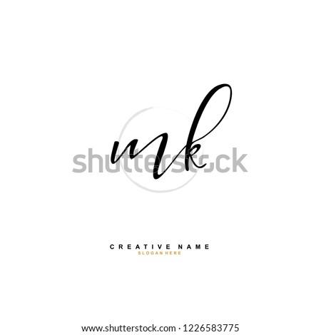 M K MK Initial logo template vector Stock fotó ©