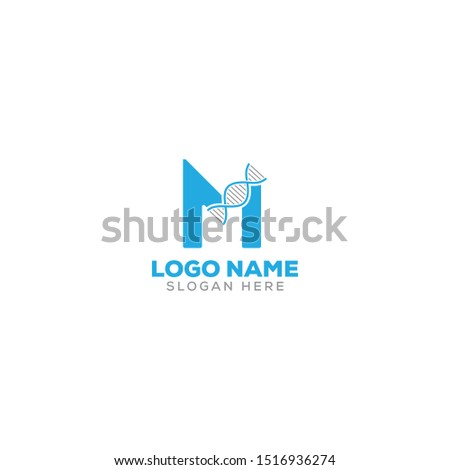M letter/DNA logo design full vector template EPS 10 Stock fotó ©