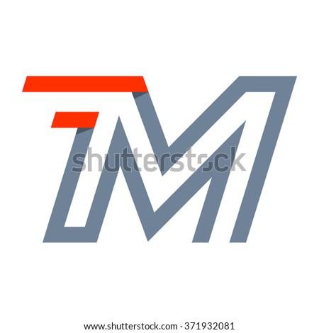 m letter fast speed logo