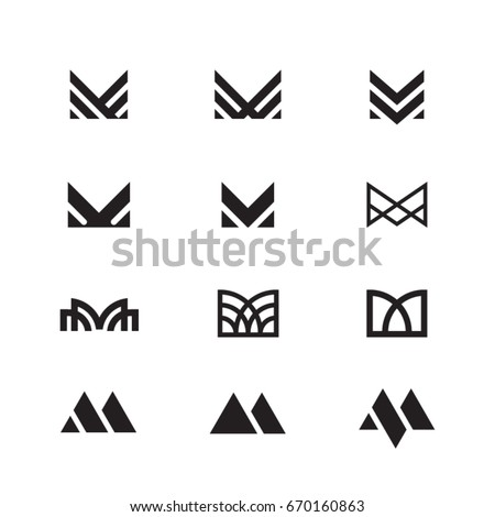 m letter icon symbol typeface character