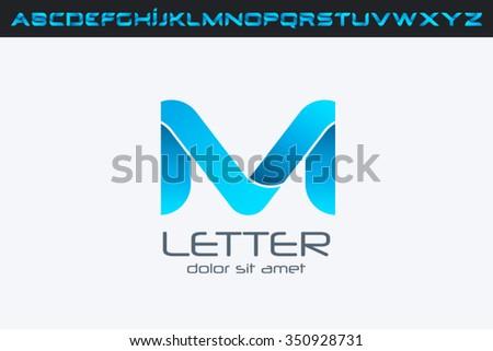 m letter logo  alphabet logo