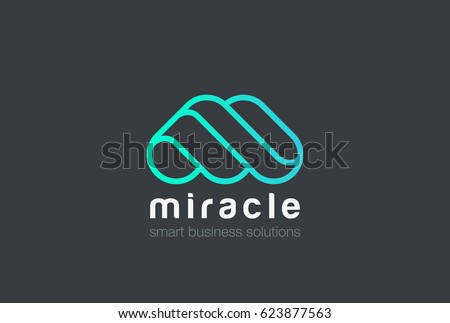 M Letter Logo design vector template Linear style. Creative character friendly corporate style Logotype.