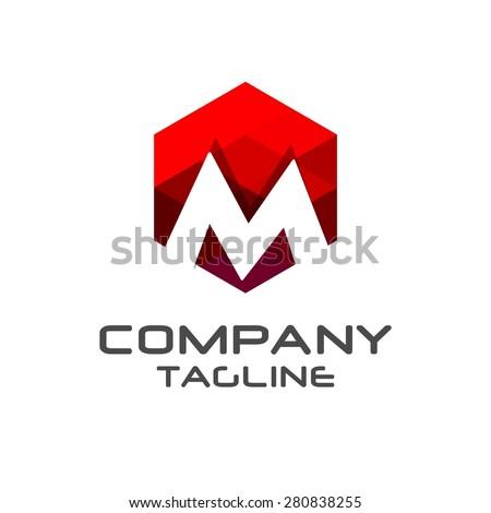 m letter logo icon mosaic