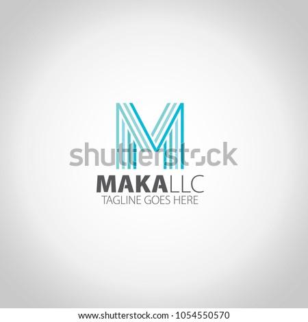 m letter logo teplate