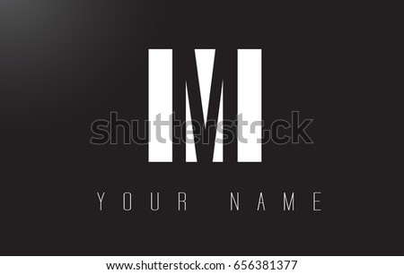 M Letter Logo With Black and White Letters Negative Space Design.
