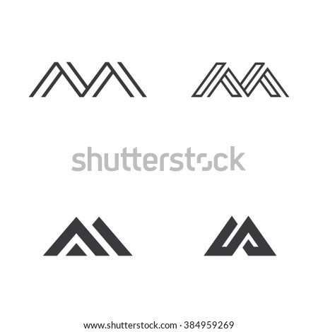 royalty free vector logo with capital letter m 415260043 stock