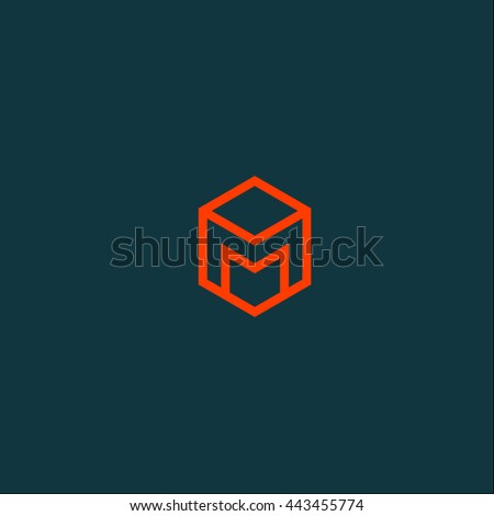 m logo in hexagon m monogram