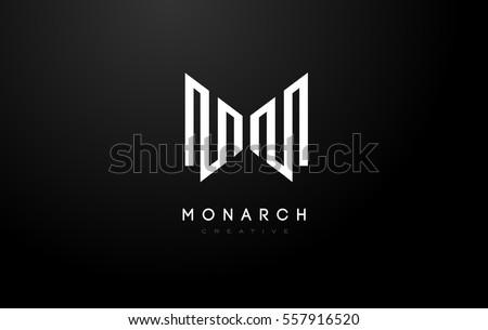m logom letter icon design