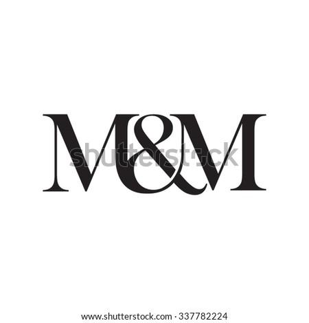 m m initial logo ampersand