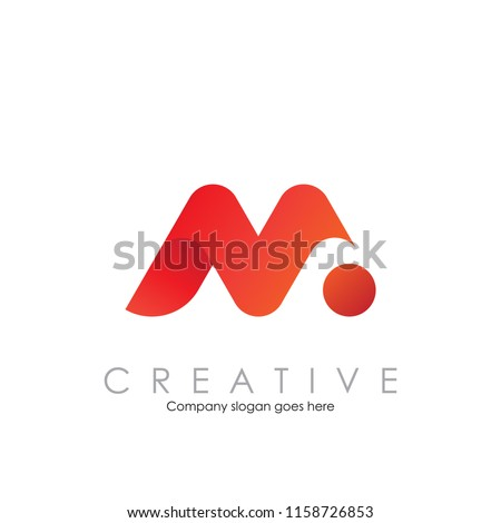 m n logo with modern concept