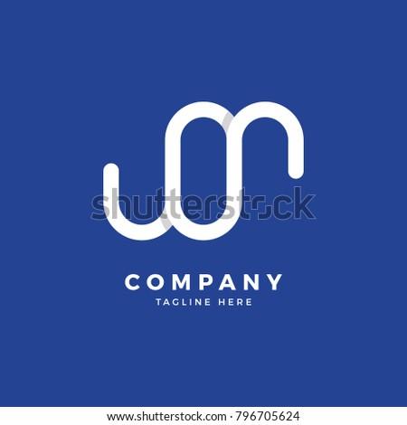 M O Letter Logo Design