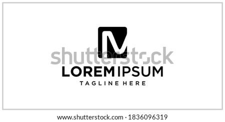 M or N banking center logo design inspiration