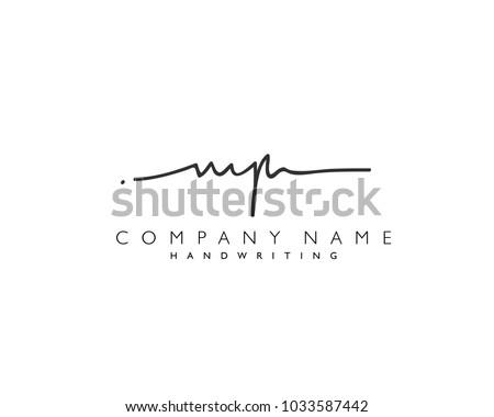 m p initial handwriting logo