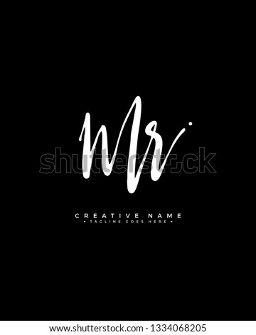 M R MR initial logo signature vector. Handwriting concept logo. Stock fotó ©